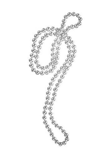 Silver Flapper Beads