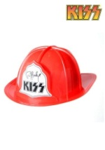 KISS Red Plastic Fire Hat