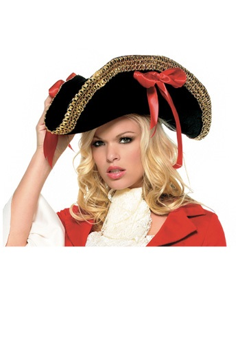 Ladies Black Pirate Hat