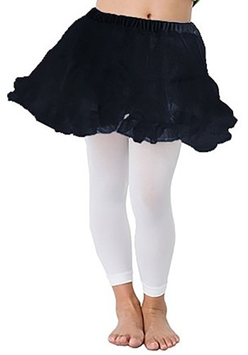 Childrens Black Petticoat