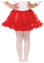Kids Pretty Red Petticoat