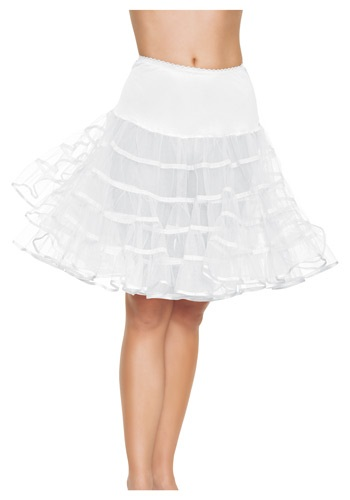 Adult White Knee Length Petticoat