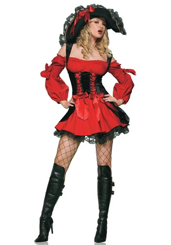 Saucy Red Pirate Vixen Costume