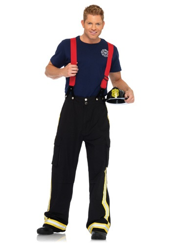 Mens Hot Fire Captain Costume