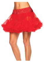 Womens Red Devil Tulle Petticoat