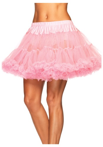 Plus Size Layered Pink Tulle Petticoat