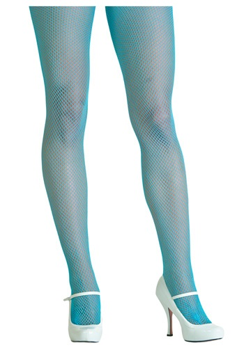 Electric Blue Fishnet Tights