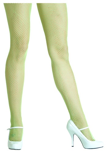 Acid Green Fishnet Tights
