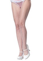 Plus Size White Fishnets