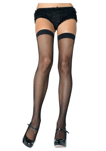 Nylon Black Fishnet Stockings