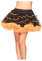 Black & Orange Tulle Petticoat