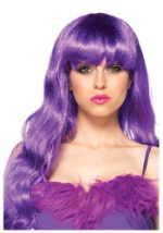 Discount Pop Star Purple Wig