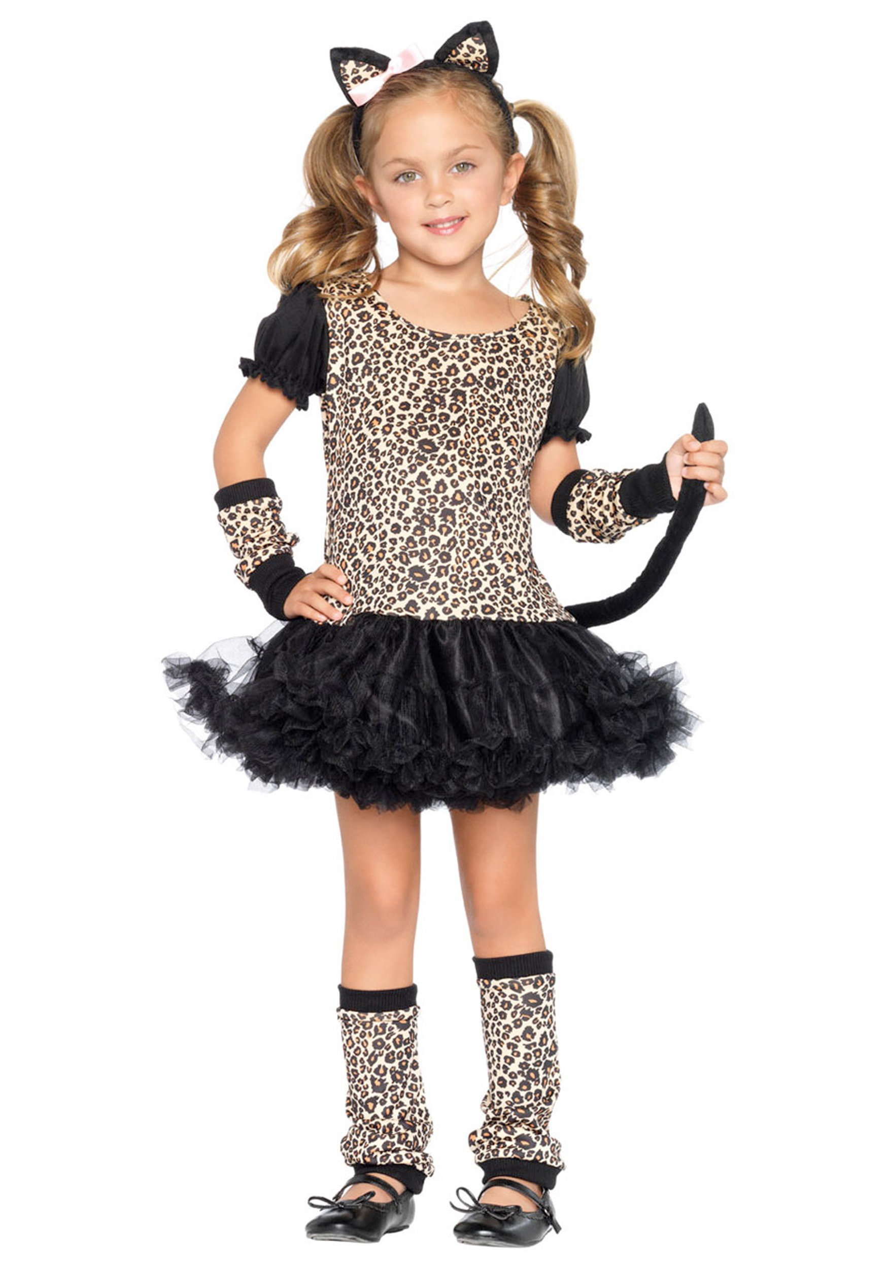 Girls Tutu Kitty Cat Costume - Child Halloween Cat Costumes for Girls
