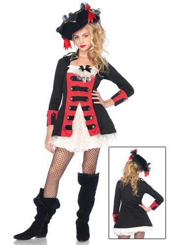 Teenage Charming Pirate Captain Costume