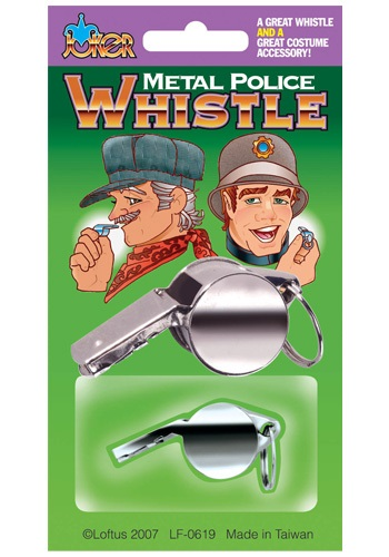 Cop Costume Metal Whistle