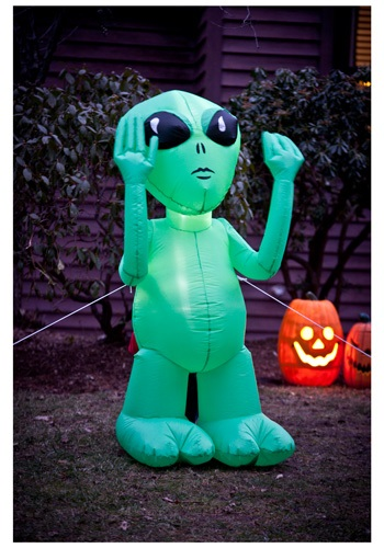 Inflatable Green Alien Decoration