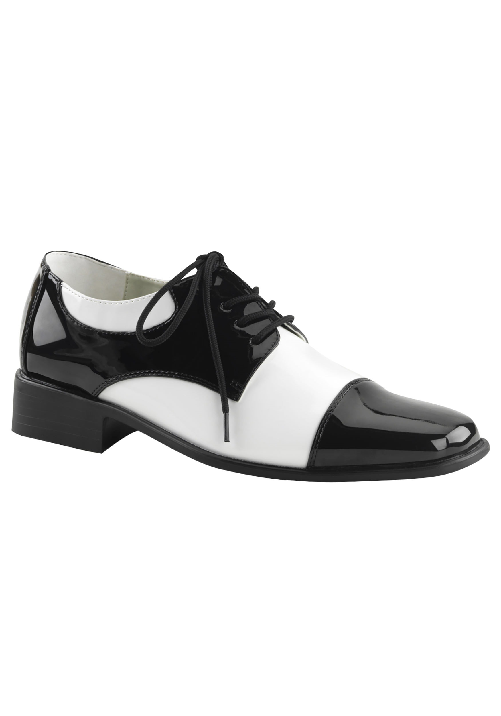 black white gangster shoe mens vintage inspired 1920s