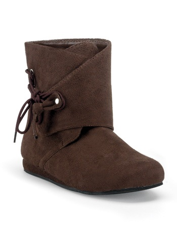 Brown Suede Moccasin Boots