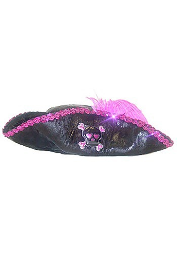 Kids Pink Punk Pirate Hat