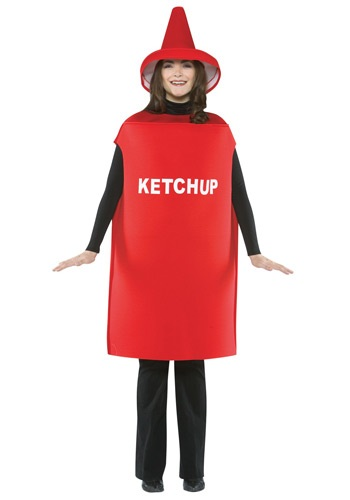 Funny Adult Ketchup Costume