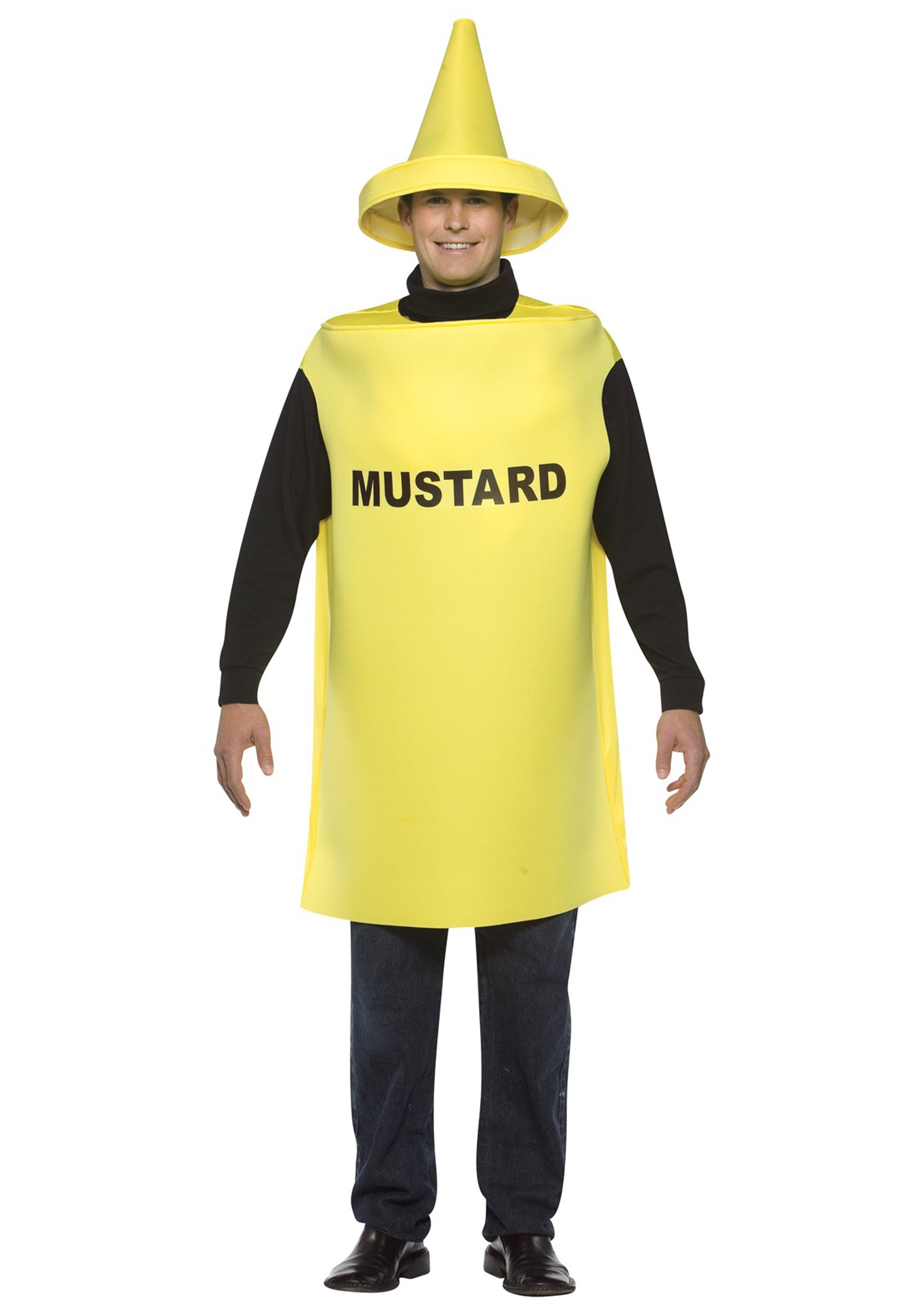 funny adult mustard costume - couples mustard and ketchup costumes