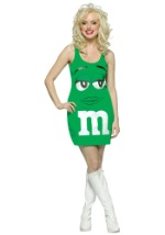 Sexy Shamrock Green M&M Costume