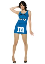 Sexy Womens Blue M&M Costume