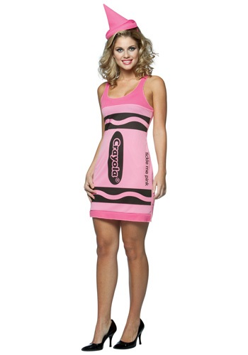 Sexy Tickle Me Pink Crayon Dress