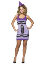 Sexy Wisteria Purple Crayon Dress
