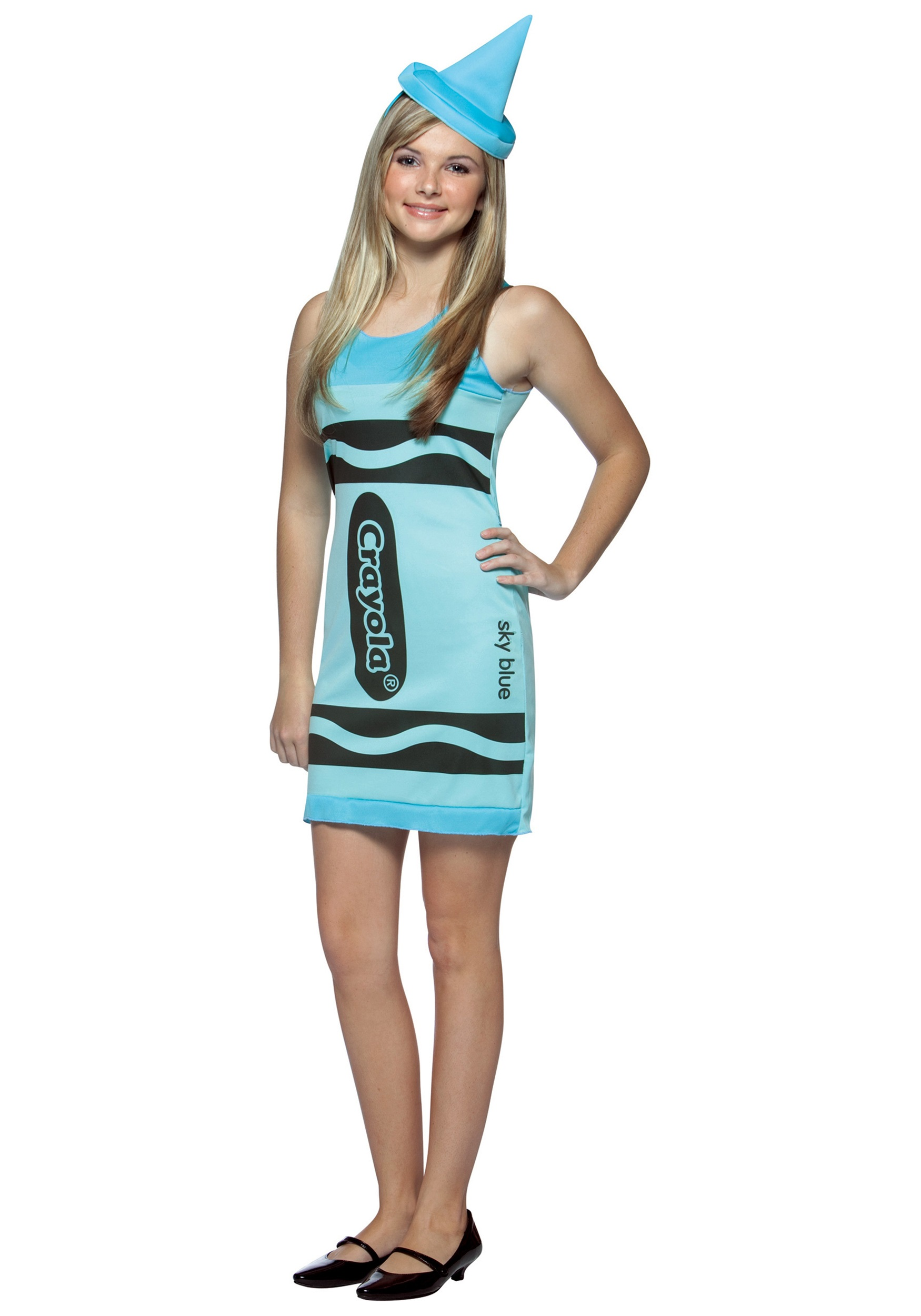 Sky Blue Teen Crayon Costume  sc 1 st  Halloween Costume Ideas & Sky Blue Teen Crayon Costume - Teen Costume Group Ideas