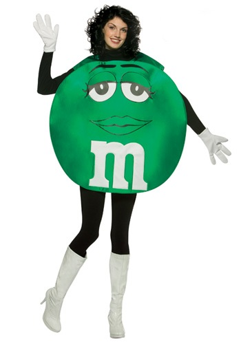Green Adult M&M Costume