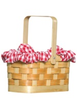 Red Gingham Basket Purse