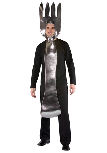 Adult Silver Fork Costume
