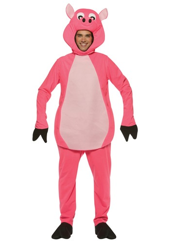 Adult Pink Pig Costume