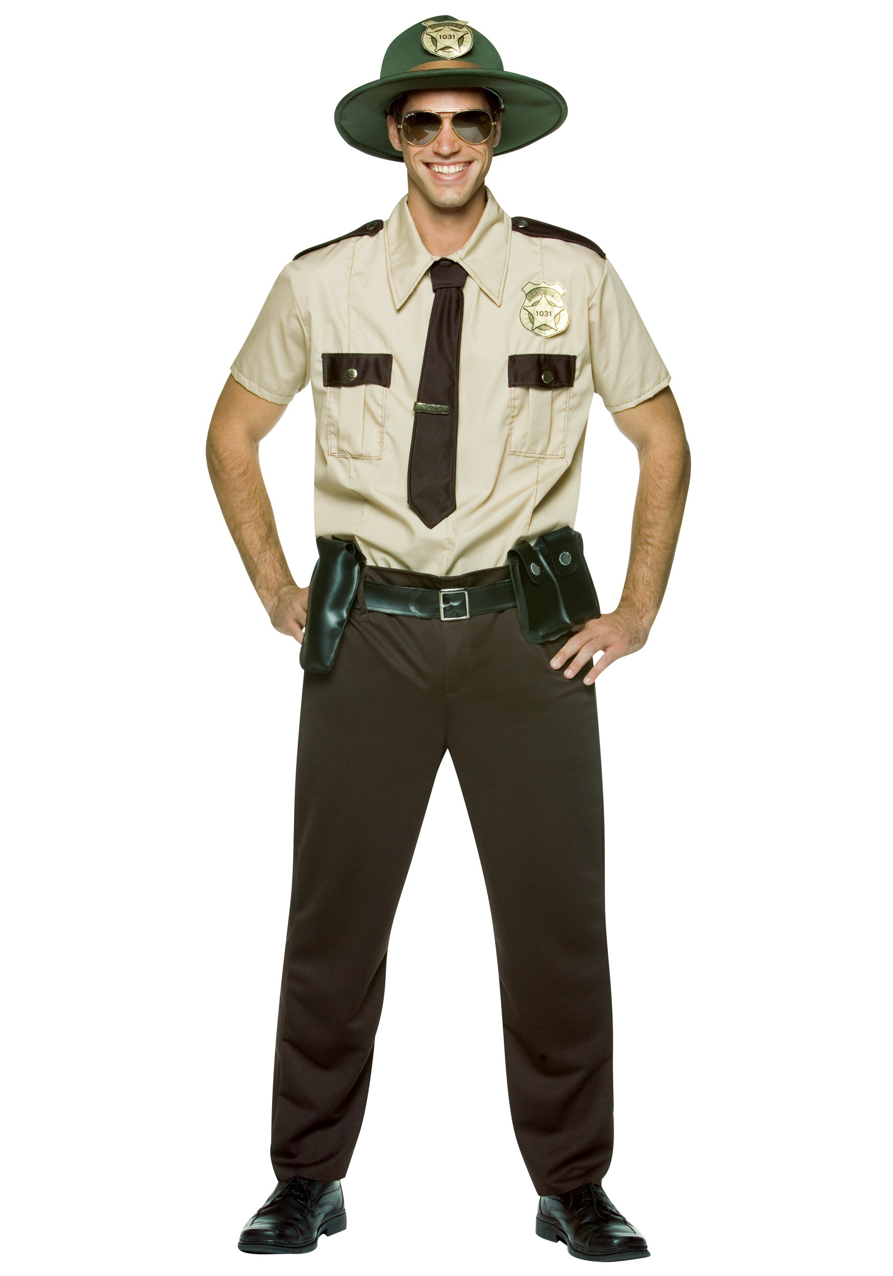 super trooper costume - adult mens sheriff costumes