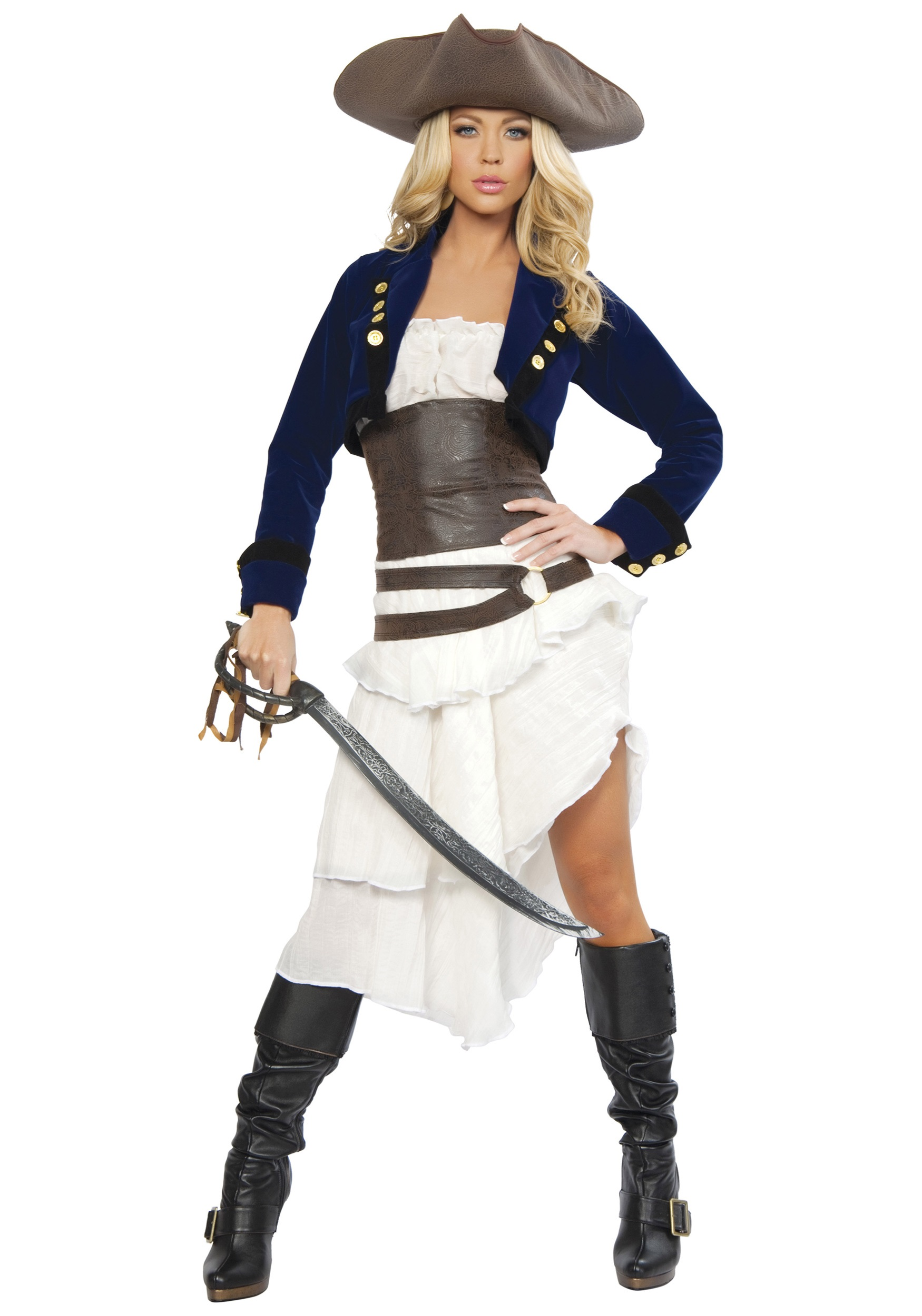Women's Costumes Sexy Costumes High Quality Deluxe Sexy Pirate Costume Adult Women Halloween Carnival Party Cosplay Caribbean Pirates Fancy Dress