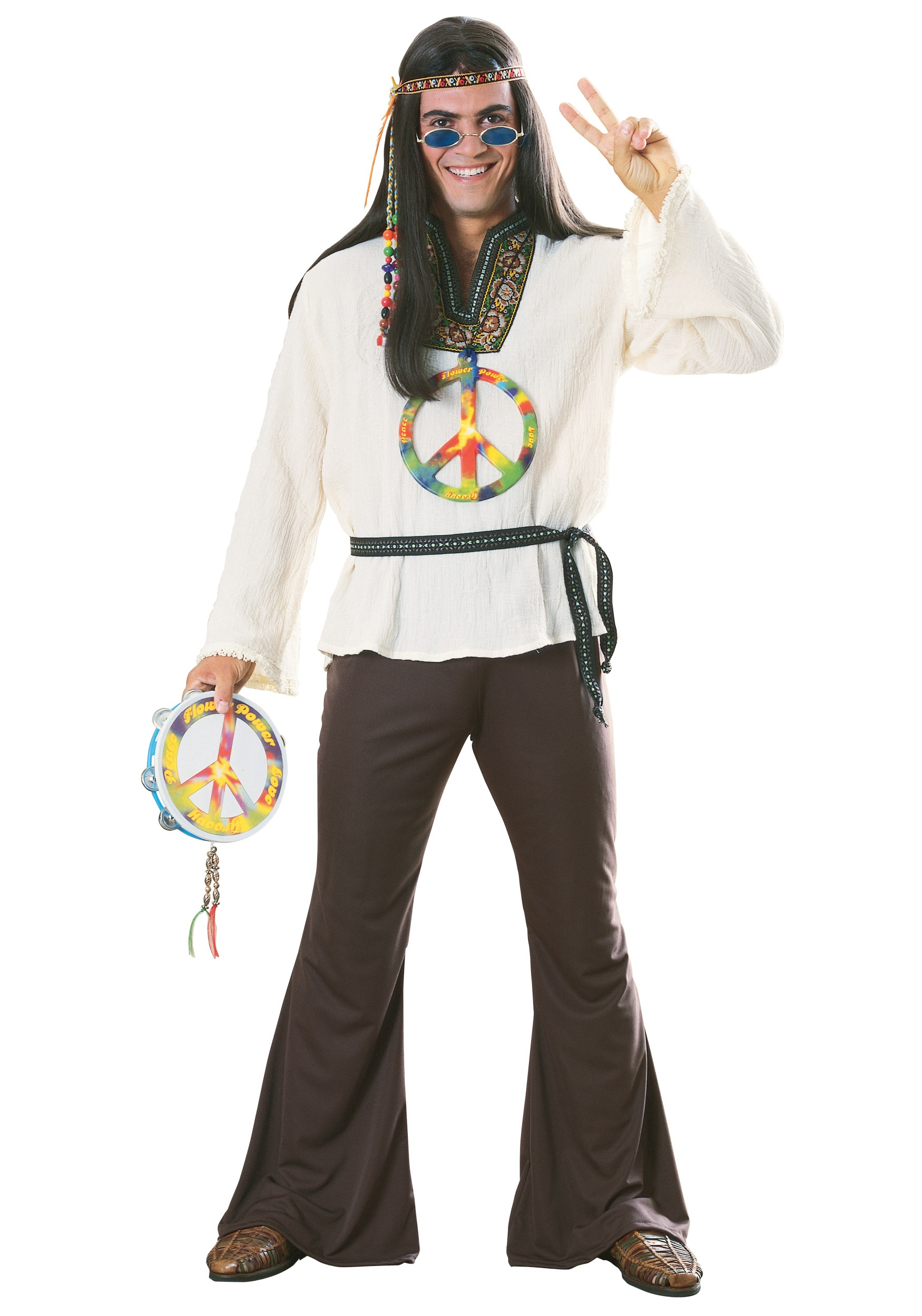 Groovy Hippie Adult Costume  Mens 1960s Hippie Costumes