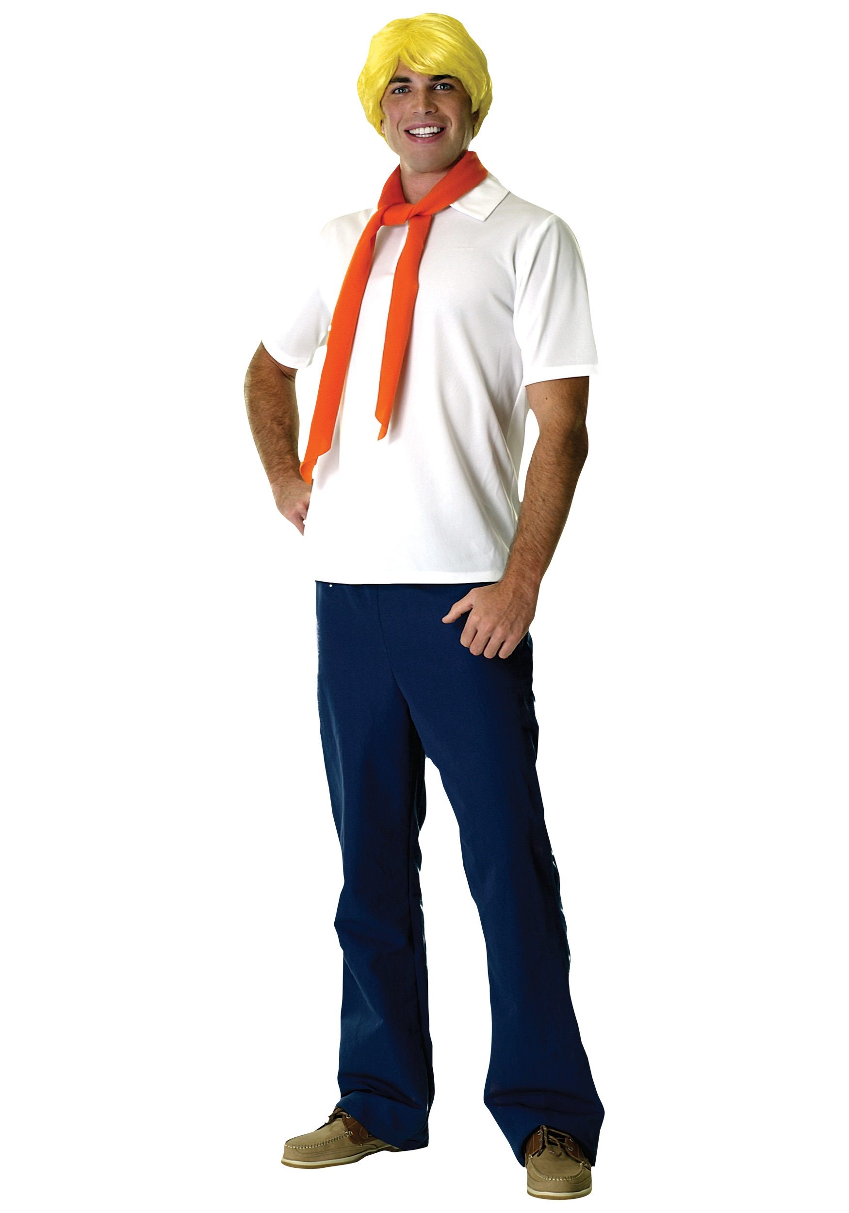 Adult Fred Jones Costume Halloween Mens Scooby Doo Costumes