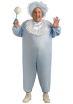 Mens Plus Size Blue Baby Costume