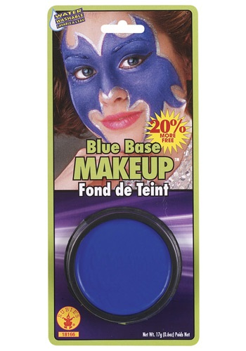 Blue Costume Base Makeup