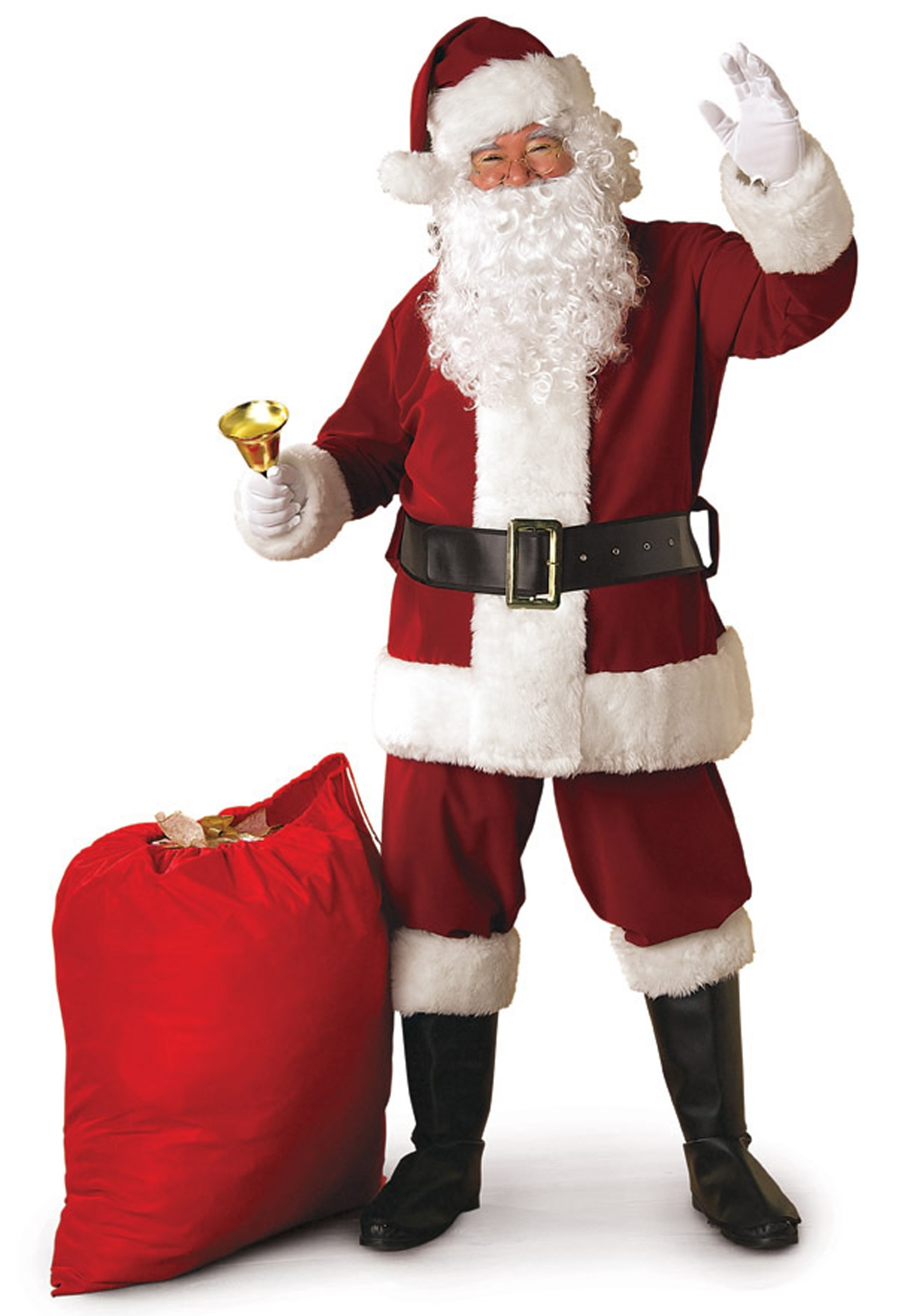 Regal santa claus suit costume deluxe crimson
