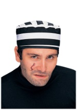 Striped Prison Inmate Hat