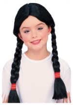 Girl's Black Indian Wig