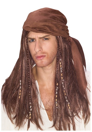 Caribbean Pirate Mens Wig
