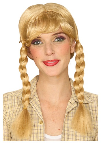Womens Blonde Braided Wig