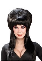 Black Elvira Costume Wig