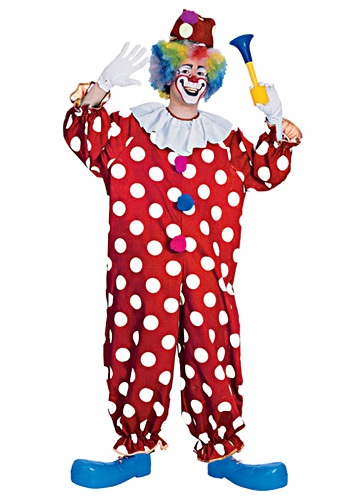 Dotted Party Clown Costume