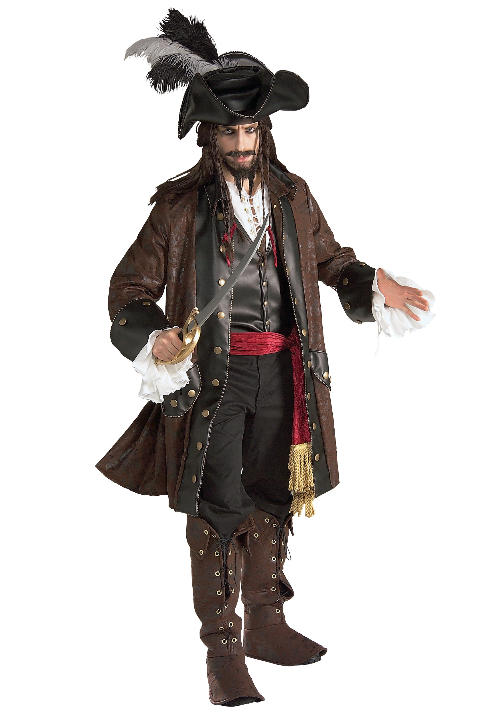 Authentic Adult Caribbean Pirate Costume Adult Pirate Costumes