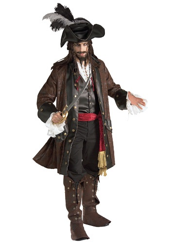 Authentic Adult Caribbean Pirate Costume