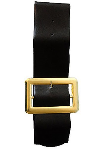 Gold Buckle Black Belt